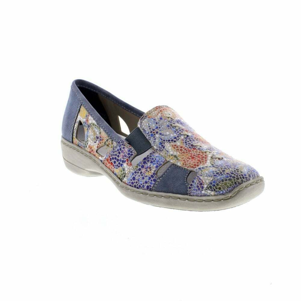 Femme Casual Slip On chaussures Rieker 41385 - 92 Multi EU Taille 39