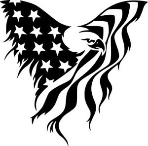 bald eagle american flag wall car window laptop vinyl sticker decal rh ebay com