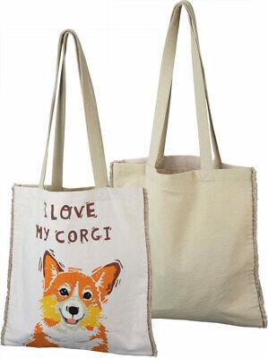 Cute Corgi Gifts Floral Corgi Tote Bag Corgi Bag