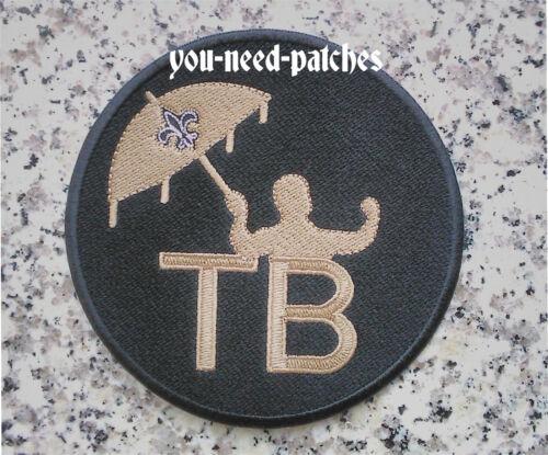"New Orleans Saints Tom Benson TB Memorial 4/"" Patch logo Embroidered NFL Aufnäher"