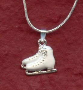 Ice skate boots necklace new ice skating charm pendant and chain image is loading ice skate boots necklace new ice skating charm aloadofball Gallery