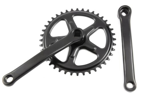 40 TEETH 165mm COTTERLESS CHAINWHEEL CRANK SET BLACK SINGLE CHAIN RING