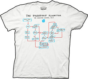 OFFICIALLY-LICENSED-BIG-BANG-THEORY-FRIENDSHIP-ALGORITHM-MENS-t-shirt-tee-S-M-XL