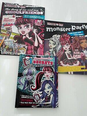3 X Monster High Pacchetto Libro Ghoulfriends Terribilmente Segreti Monster Party Nuovo-mostra Il Titolo Originale