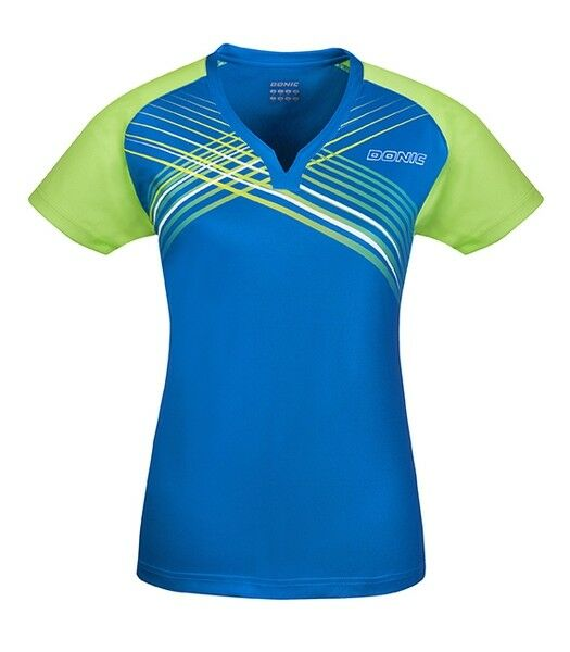 Donic Ladies Jersey Riva blue TRASPIRANTE SHIRT badminton ping-pong Lady FEMA