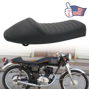 Details about Black Cafe Racer Retro Hump Seat Pad For KAWASAKI KZ KZ400  KZ550 K750 Z650 W650