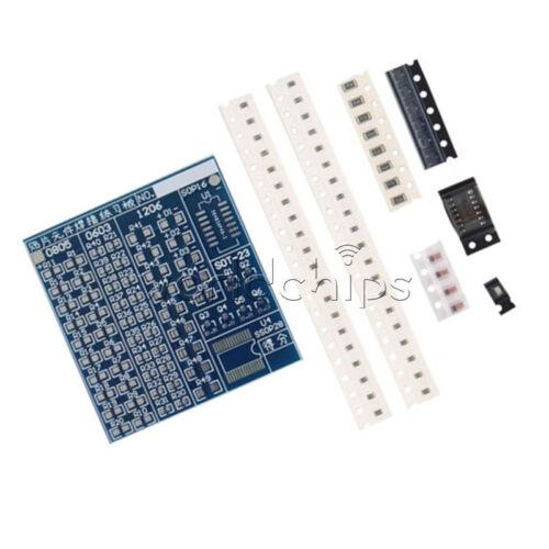 2PCS Blue 5V SMT//SMD Component Welding Practice Board for Soldering Practice DIY