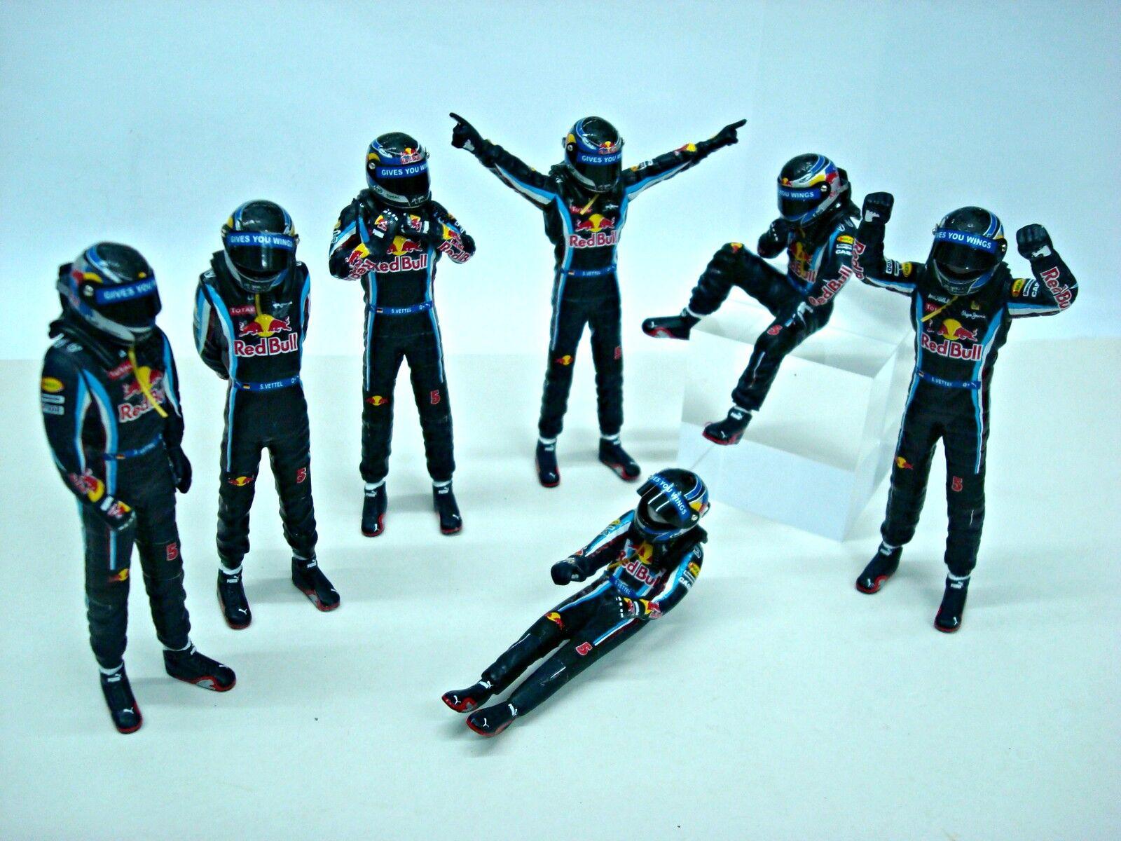 promociones de equipo Figura F1 D58D VETTEL 2010 WORLD CHAMPIONS CHAMPIONS CHAMPIONS STANDING DRIVER 1 18 MANI DIETRO  autorización oficial