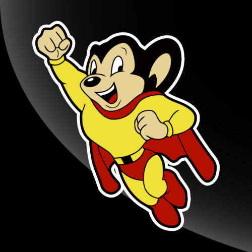 4 in to 12 in Mighty Mouse Vintage Style Vinyl Decal Sticker Comic Superhero