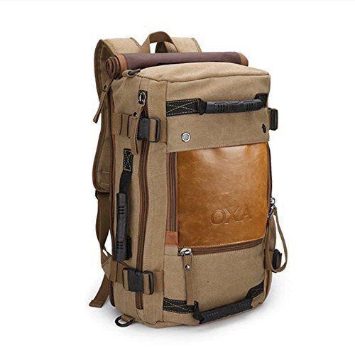 Oxa Canvas Backpack Travel Duffel Bag Rucksack Laptop Computer Hiking Ebay