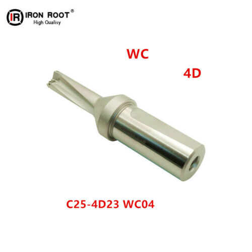 1P C25-4D23 WC04 CNC U drill 23mm-4D for WCMX04 Insert Indexable drill