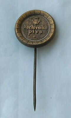 Croatian Beer Dutiful Karlovacko Pivo Demand Exceeding Supply Vintage Pin Badge Rpu Zagreb