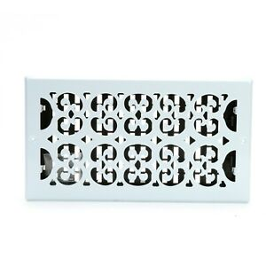 Details about Decor Grates Scroll Wall/Ceiling Register, Painted White, 6