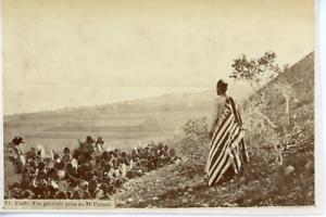 Egypte-Caiffa-Panorama-Vintage-Print-Tirage-albumine-10x14-Circa-1890