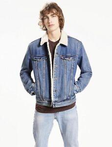 New Levi S Mens Sherpa Trucker Jacket Style 163650040 Ebay