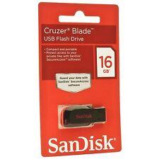 16G SanDisk Cruzer Blade 16GB USB 2.0 Flash Chiavetta Pendrive CZ50 Al dettaglio