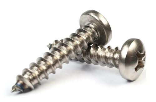 #2 Sheet Metal Screws Select Length 18-8 Stainless Steel Phillips Pan Head
