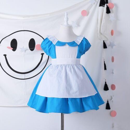 Baby Girl Princess Alice in Wonderland Toddler Dress Kids Holiday Outwear 2-6 T
