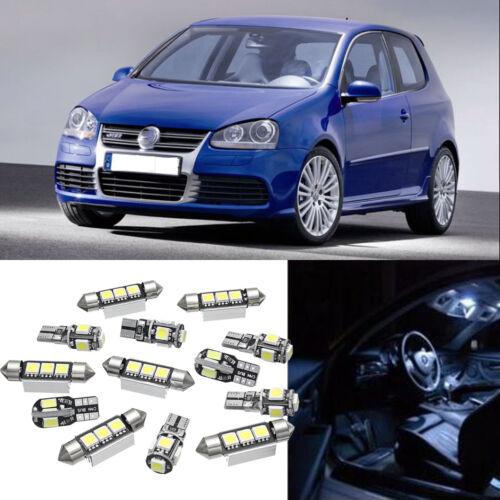13X Car Interior LED Lights Bulbs Kit White For MK5 MKV 2003-2009 //FA