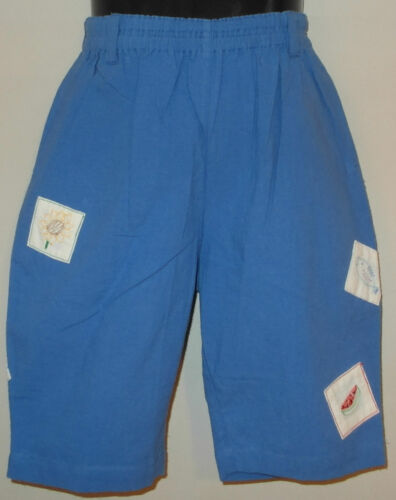 New 100/% Cotton Blue Boys Girls Kids Summer Holiday Shorts Small 4-6 Years