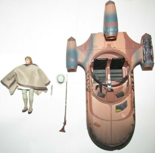 environ 15.24 cm figure luke skywalker Land Speeder COMPLET EXCELLENT Star Wars Black 6 in