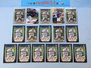 2014-J-D-DAVIS-Rookie-Prospect-Lot-x-16-RC-Bowman-Chrome-1st-Yellow-Mets