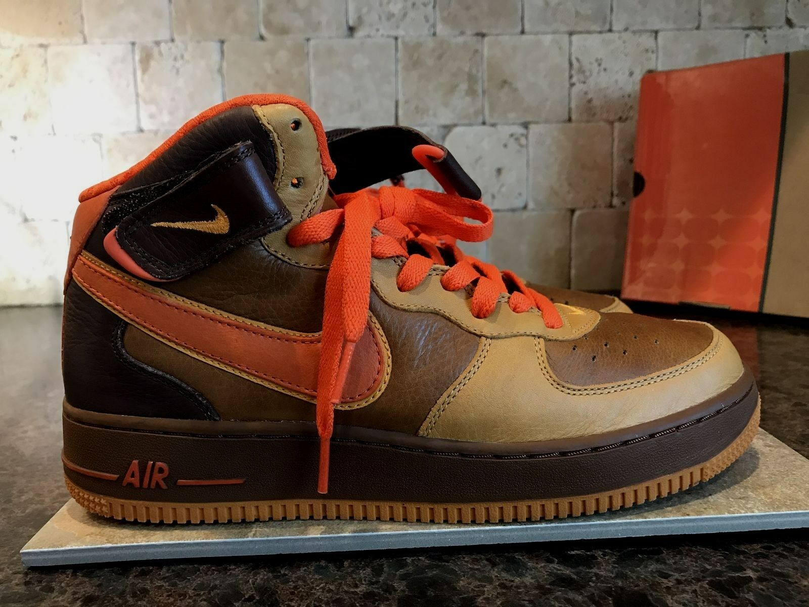 f2ca5bfede1971 NIKE AIR FORCE ONE MID PREMIUM QK SHOES MEN S SZ 8 315581 281 2006  THANKSGIVING