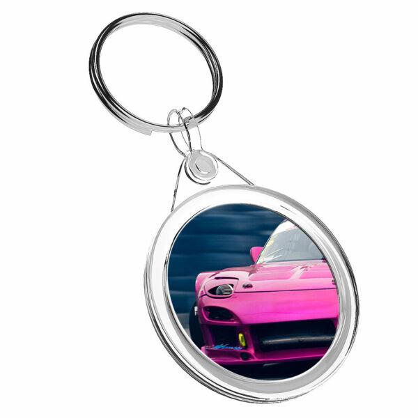 1 Auto Da Drift Rosa X Veicolo Da Corsa-portachiavi Ir02 Mamma Papa 'regalo Di Compleanno #16531