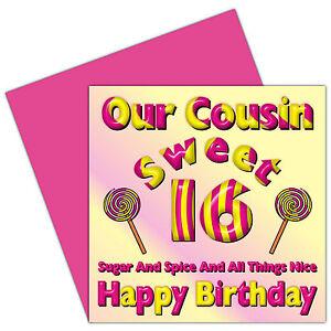 Sweet 16 happy 16th birthday card full range female relations image is loading sweet 16 happy 16th birthday card full range m4hsunfo