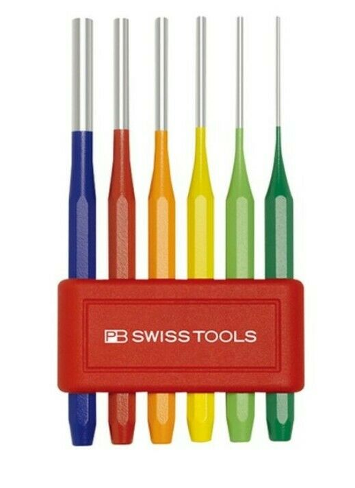 AUTHENTIC PB Swiss Tools 755BL RB CN Parallel Pin Punch Rainbow Set NEW
