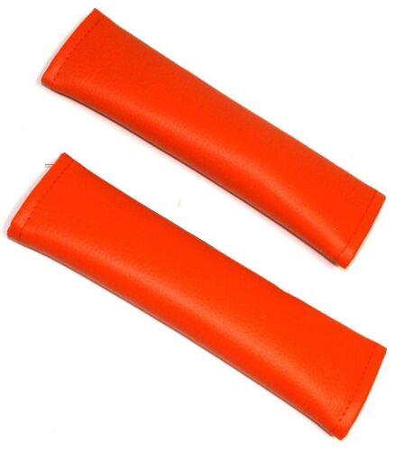 2 FOURREAUX protections de ceinture couleur orange pour voiture auto camion