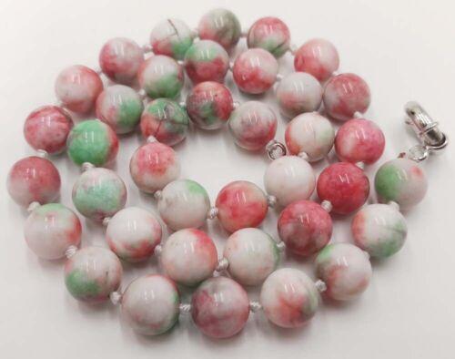 10 Mm Naturel Rose Multicolore Kunzite Perles Rondes Gemme Collier 18 in environ 45.72 cm