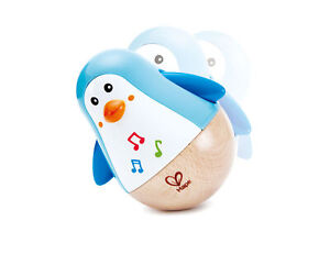 HAPE-E0331-Penguin-Musical-Wobbler-Sound-Toy-Baby-Infant-Toddler-Age-6-Months