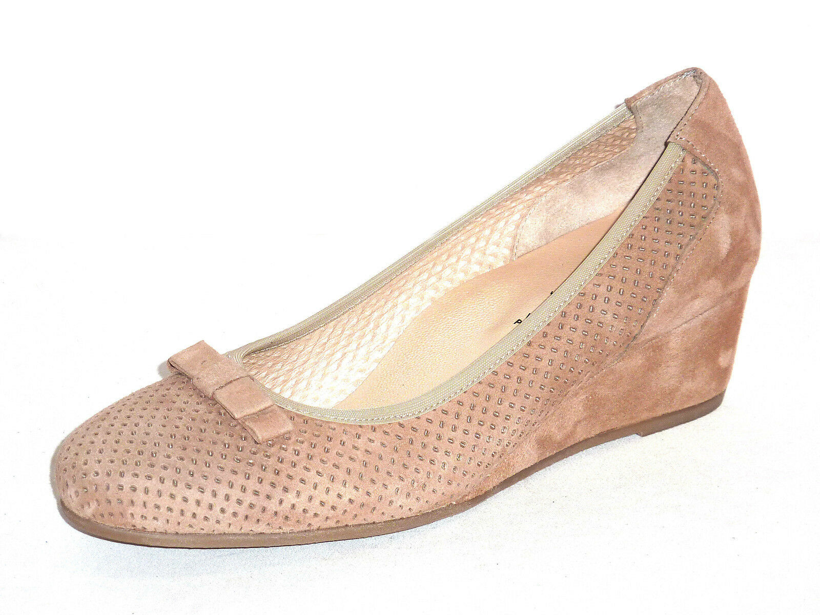 zapatos mujer mujer mujer CON ZEPPA E FIOCCO PELLE NABUK ColorE CORDA MORBIDE E COMODE  n. 37  nueva gama alta exclusiva
