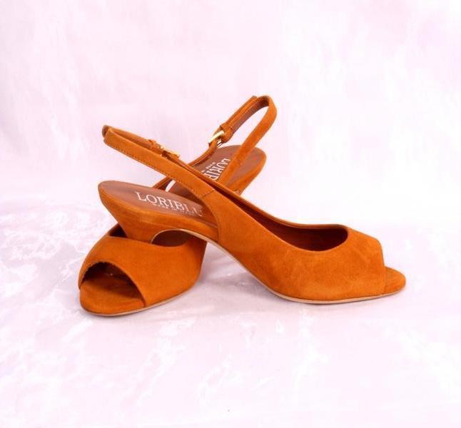 LORIblue 5040 Terracotta Suede Slingback Sandals 37.5 37.5 37.5   US 7.5 ca9cfe