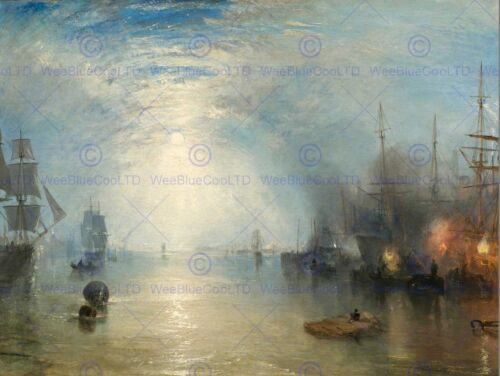 JOSEPH MALLORD WILLIAM TURNER BRITISH KEELMEN HEAVING COALS ART PRINT BB5971B