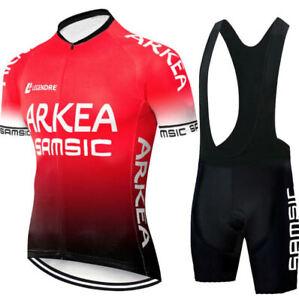 Completo Ciclismo Estivo Bici-Abbigliamento Maglia E Salopette Fondello In Gel