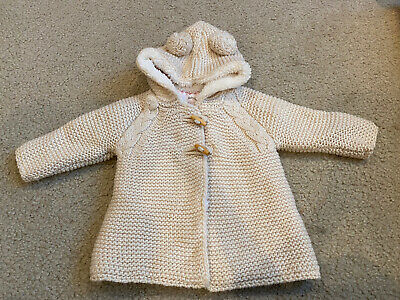 NWOT Zara Knitwear Baby Girls Knit Thick Ivory Lined ...