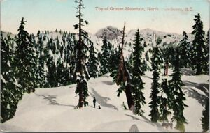 Top-of-Grouse-Mountain-North-Vancouver-BC-Snow-Postcard-E34