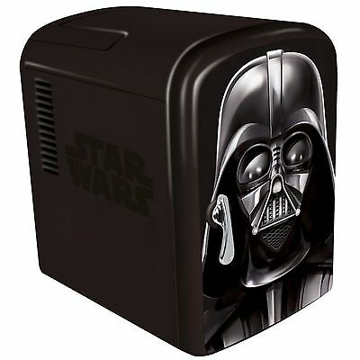 NEW Star Wars DARTH VADER Mini-Fridge 6-Beer/Soda Cooler/Warmer Home/Car/Office