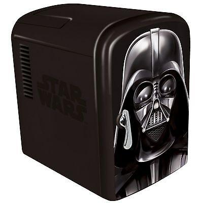 NEW Star Wars DARTH VADER Mini-Fridge 6-Beer/Soda Cooler/Warmer Home/Car/Office