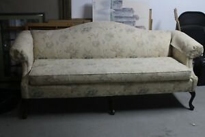 Image Is Loading Victorian Fl Print Claw Foot Sofa Immaculate