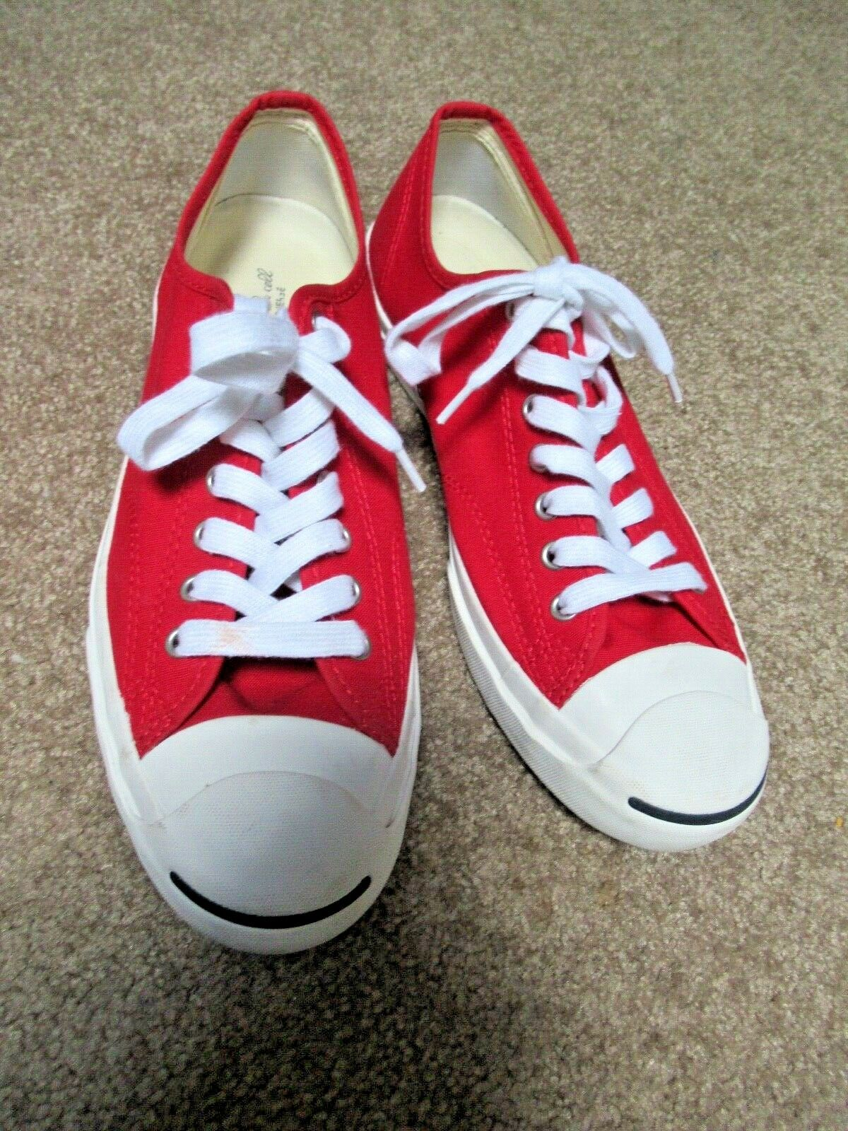 ~~VINTAGE 90's Dead Stock Red Canvas JACK PURCELL… - image 1