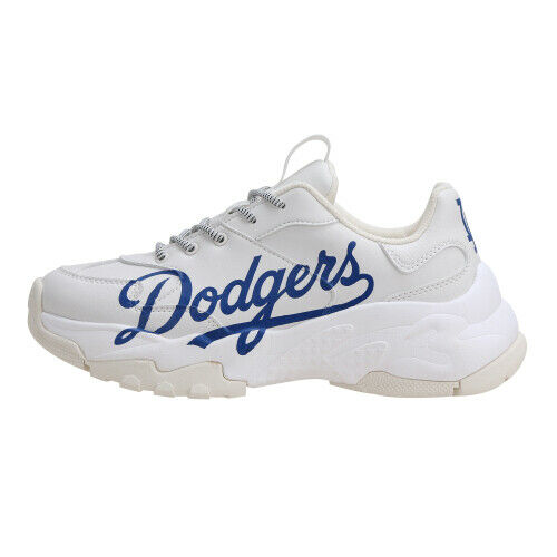 New MLB Big Ball Chunky P Running shoes Sneakers - LA Dodgers(White bluee)