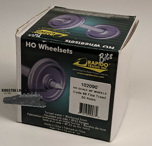 HO-Rapido-Bits-102090-36-034-Code-88-Semi-Scale-Metal-Wheelsets-Pkg-of-50