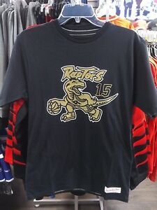 8efe4ccc Image is loading Toronto-Raptors-Vince-Carter-Mitchell-Ness-Black-Gold-