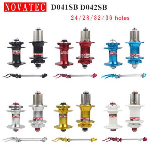 Mountain Bike Hub Novatec D041SB D042SB MTB Disc Hubs with 24//28//32//36 Holes