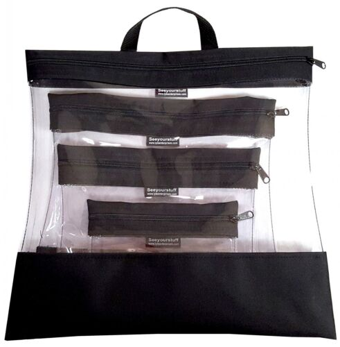 "/""See Your Stuff Bag/"" 4 Piece Set Color Choice"