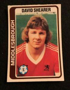 PALE BLUE BACK 1979 -#276- MIDDLSBROUGH DAVID SHEARER TOPPS-FOOTBALL
