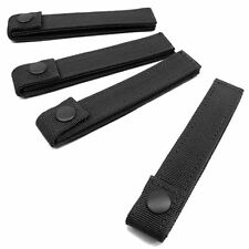 """Lot of 4 Condor 4/"""" Inch Molle MOD Straps for Tactical Gear Pouch Black #223"""